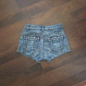 cc15a8cd99 Laura's Boutique Shorts | Lauras Boutique Studded Denim Sz Sm | Poshmark